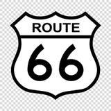 Signe de l'itinéraire 66 des USA illustration libre de droits