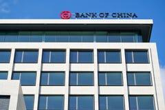 Signe de la Banque de Chine à la branche de Rotterdam Image stock