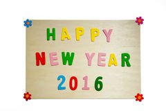 Signe de la bonne année 2016 Image libre de droits