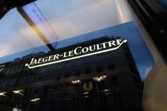 Signe de la mémoire de Jaeger-LeCoultre à Vienne Images stock