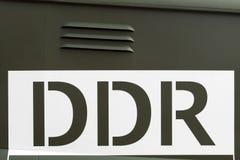 Signe de la RDA ou de l'Allemagne de l'Est Images stock
