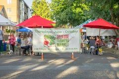 Signe de la Reine Anne Farmers Market photographie stock libre de droits