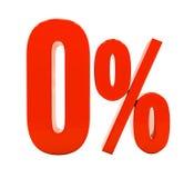 Signe de la remise 3d de pour cent Images stock