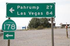 Signe de la route CA178 Photographie stock libre de droits