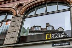Signe de la société internationale National Geographic photographie stock libre de droits