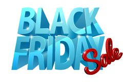 Signe de la vente 3D de Black Friday Images libres de droits