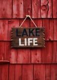Signe de la vie de lac Photographie stock