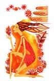 Signe de la Vierge de zodiaque illustration de vecteur