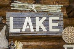 Signe de lac Image stock
