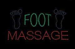 Signe de lampe au néon de massage de pied Photographie stock