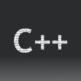 Signe de langue de C++ Images stock