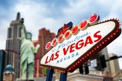 Signe de Las Vegas Photo libre de droits