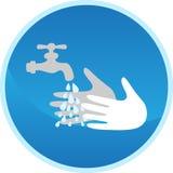 Signe de lavage de main Image libre de droits