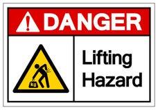Signe de levage de symbole de risque de danger, illustration de vecteur, isolat sur le label blanc de fond EPS10 illustration de vecteur