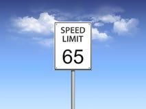 Signe de limitation de vitesse Photographie stock libre de droits