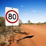 Signe de limitation de vitesse de kilomètre Images stock