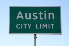 Signe de limite de ville d'Austin Photo stock