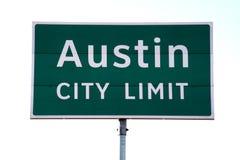 Signe de limite de ville d'Austin Images libres de droits