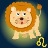 Signe de Lion de zodiaque Image libre de droits