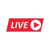Signe de Live Stream, emblème, logo Photos libres de droits