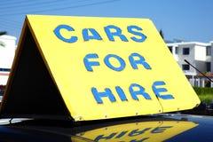 Signe de location de voiture Photos libres de droits