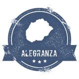 Signe de logo d'Alegranza illustration de vecteur