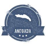 Signe de logo d'Anegada Illustration de Vecteur