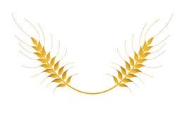 Signe de logo d'isolement par vecteur de blé Photographie stock