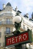 Signe de métro de Paris Images stock