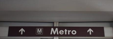 Signe de métro pour Washington D C système de souterrain Image libre de droits