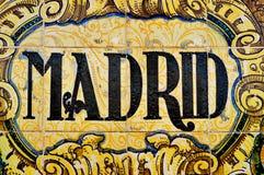 Signe de Madrid Photos libres de droits