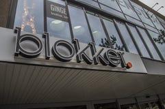 Signe de magasin de Blokker à Amsterdam les Pays-Bas Photo stock