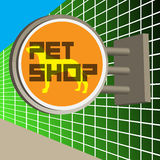 Signe de magasin de bêtes Photos stock