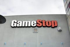 Signe de magasin de GameStop image libre de droits