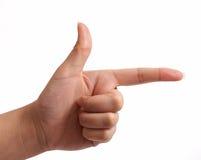 Signe de main Photographie stock libre de droits