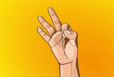 Signe de main Photo libre de droits