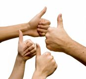 Signe de main Images stock