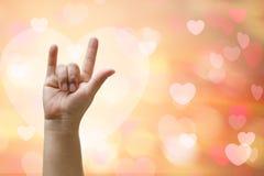 Signe de main d'amour Photos libres de droits