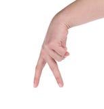 Signe de main d'homme Photos libres de droits