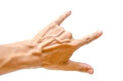 Signe de main d'homme Photo stock