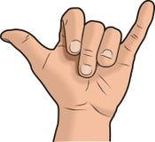 Signe de main de Shaka Image libre de droits