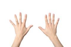 Signe de main du numéro dix Photos libres de droits