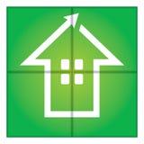 Signe de maison verte Images libres de droits