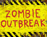 Signe de manifestation de zombi Image libre de droits