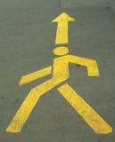 Signe de marche d'homme images stock