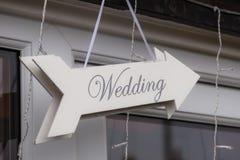 Signe de mariage Photos libres de droits