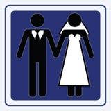 Signe de mariage Photo libre de droits