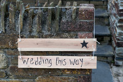 Signe de mariage Photo stock