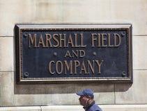Signe de Marshall Field et de société Photos stock