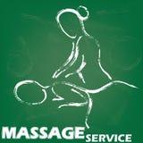Signe de massage illustration stock
